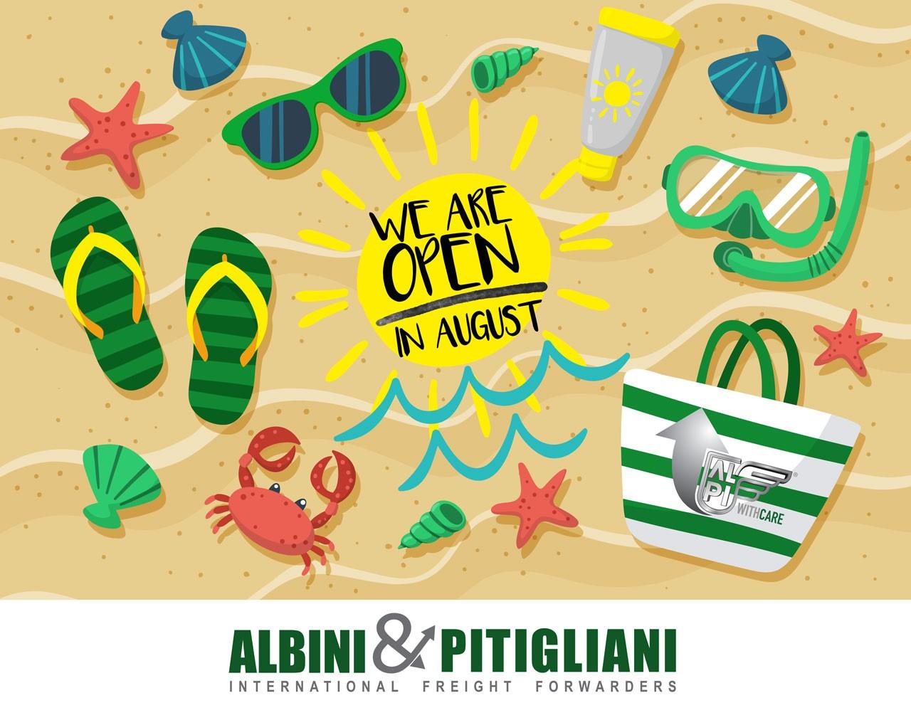 Siamo aperti ad Agosto!
