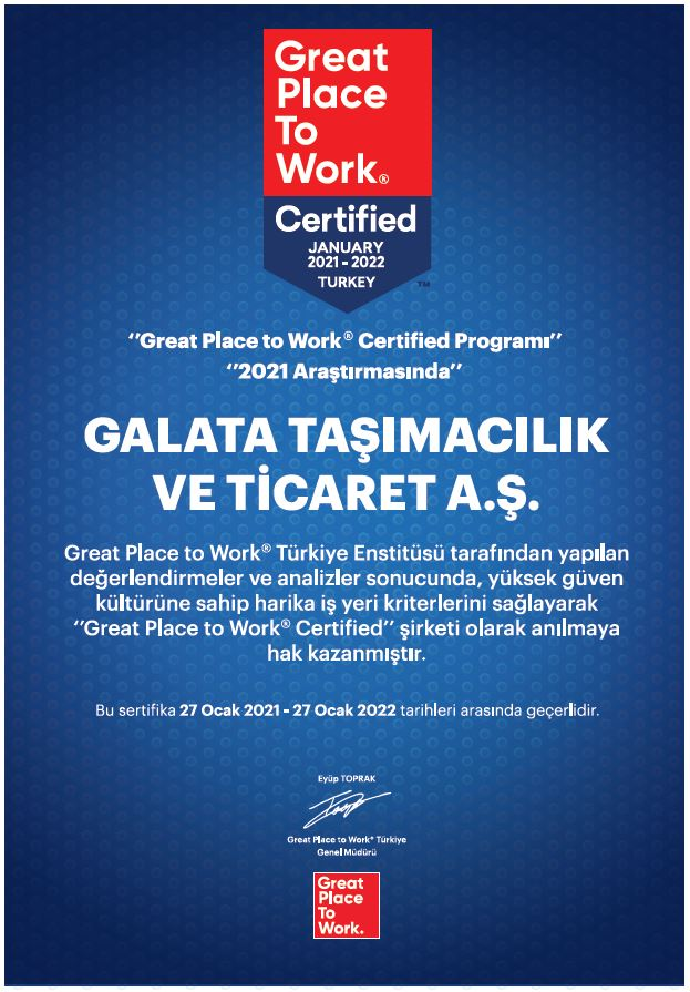 ALPI Galata - Great Place To Work 2021