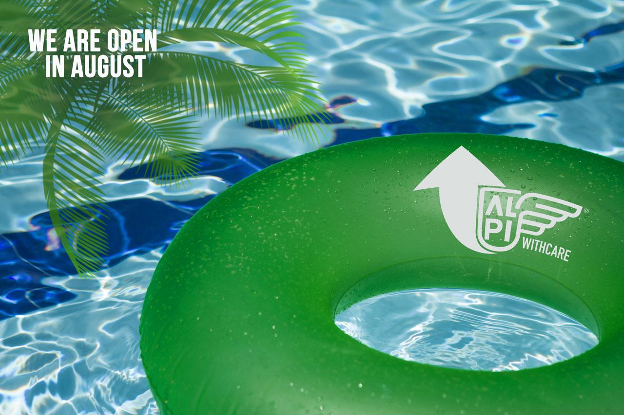 Siamo aperti anche ad Agosto!
